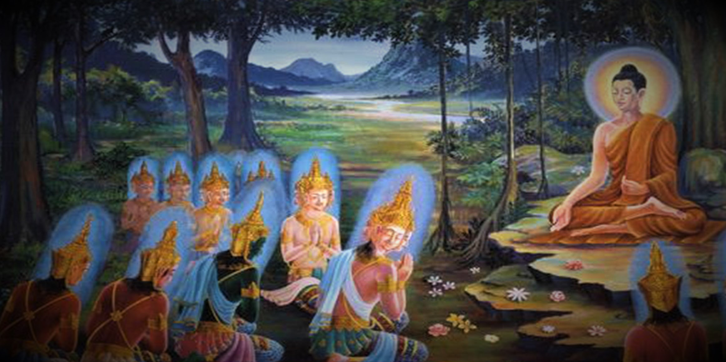 Buddha Teaching the Devas