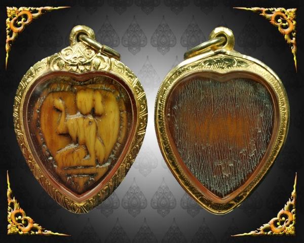 Nang Kwak Nuea Nga Gae Carved Ivory Amulet LP Derm Puttasaro Wat Nong Po